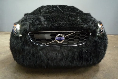 Special Volvo animal edition at the fashion show