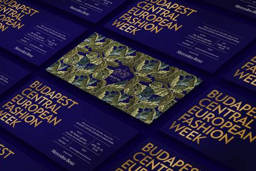 Budapest Central European Fashion Week identity